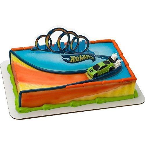 CakeDrake Hot Wheels Drift Cake Topper Set]()