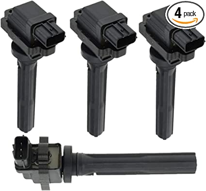 ENA Ignition Coil Pack of 4 Compatible with 99-04 Chevrolet Tracker Suzuki Vitara 1.6L 2.0L L4 UF237 610-58560 5C1287 91175339 3340065G01 GN10350