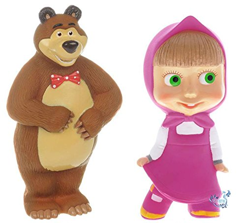 Russian Doll Masha and the Bear Set for Bath Baby Funny Figures Toys for Toddlers Girls and Boys from Masha and the Bear
