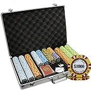 MRC 650 Ct Monte Carlo Poker Club 14 Gram Poker Chip Set Aluminum Case Choose Denomination