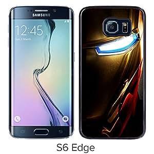 Samsung Galaxy S6 Edge Case,100% brand new Iron man 5 Black Case For Samsung Galaxy S6 Edge