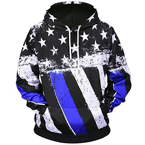 db4ead9f80f0 QMKJ Unisex Five Pointed Star 3D Prints Peak Pullover Mens Hoodie  Sweatshirt Jumper Jacket with Adjustable