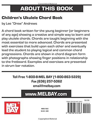 Amazon Childrens Ukulele Chord Book 9780786676163 Lee Drew