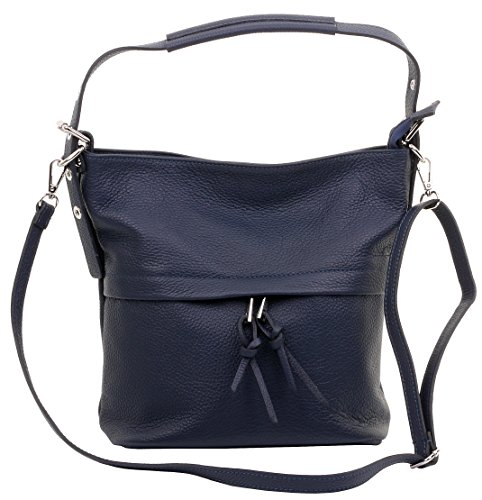 Protective Bag Grab Blue Leather Body A Shoulder Includes Italian Navy Storage Cross Sacchi Primo Textured Handbag Branded qgOR8Sg