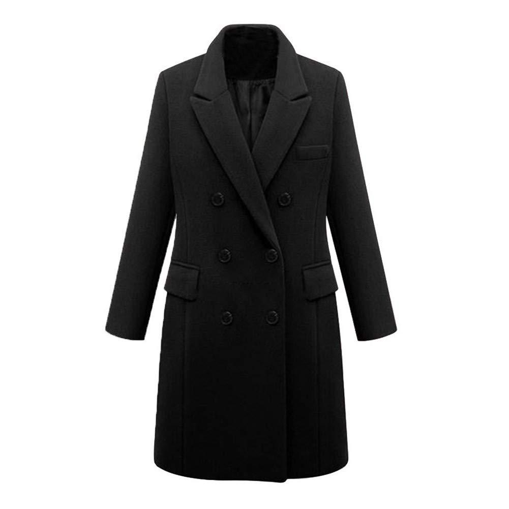 MINIKIMI Cappotto Donna Doppio Petto Tweed Cardigan Manica Lunga Invernale Lungo Giacca Pullover Casual Camicie Coat