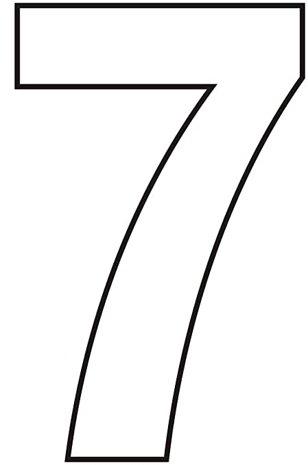 Amazon com: Helvetica Bold Condensed Vinyl Number 7 - White - 75mm