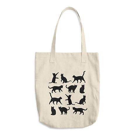 Bolsa de lona para gatos con bolsa de lona impresa, bolsa de regalo para mujer
