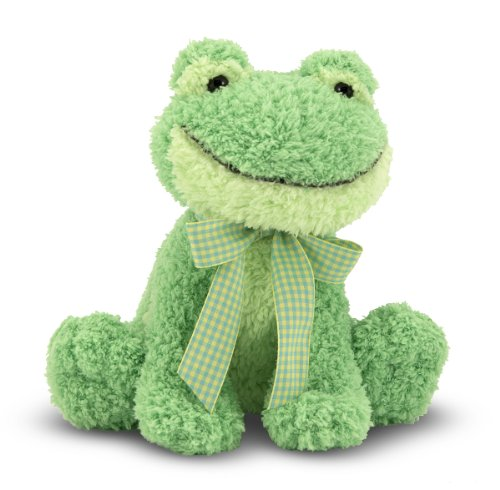 Frog Plush Toy - Melissa & Doug Princess Soft Toys Meadow Medley Froggy Stuffed Animal With Ribbit Sound Effect