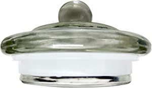 LidsMasonJars-Glass Regular Mouth Mason Jar Lid-Quick Sealing-Not Screw On, Push On-Seals with a Silicone Ring-Only Fits Ball, Kerr Jars- Bathroom-Kitchen-Pet Food Storage-Not Plastic or for Canning