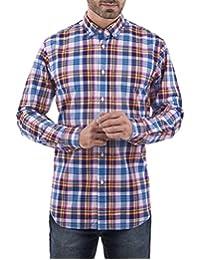 Camisa Manga Larga Regular Fit Azul