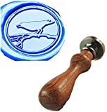 Vintage Bird On Branch Custom Picture Logo Wedding Invitation Wax Seal Sealing Stamp Rosewood Handle Set Kit