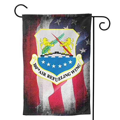 Ellive Air Force 100th Air Refueling Wing 12 X 18 Inch Outdoor Yard Flags, Decorative House Yard Flag, Polyester, Durable