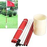 77tech Backyard Practice Golf Hole Pole Cup Flag Stick,golf Putting Green Flagstick