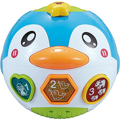 - fun wee Educational And Interactive Baby Musical Dancing Penguin Toy with Sounds And Movement - Plays Music And Lights For Babies and Toddlers - Battery Operated Features English and Spanish Mode