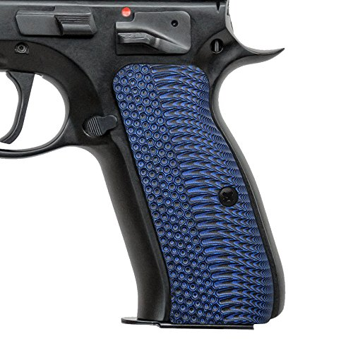 Cool Hand G10 Grips for CZ 75 Full Size, OPS Texture, Blue/Black, Brand
