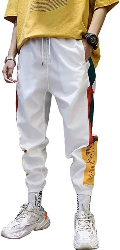 Pantalones Casuales Para Hombre Pantalones De Pies Pequenos Energia Juvenil Moda Otono E Invierno Blanco L Amazon Es Ropa Y Accesorios
