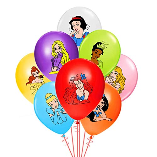 Disney Princess Birthday Balloons (Merchant Medley 24 Count Princess-Inspired Birthday Party Balloons - Large 12 Inch Size - Latex - Includes 8)