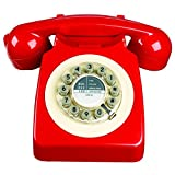 Wild Wood 746 Phone, Retro Design, Red