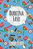 Burkina Faso Reisetagebuch: A5 Reise Journal I Notizbuch I Urlaubs Planer I Road trip Planer I Travel notebook I 6X9 Pocket journal I Geschenk für Backpacker (German Edition)