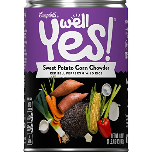 Campbell's Well Yes! Sweet Potato Corn Chowder, 16.3 oz. Can (Pack of 4) (Sweet Potato Life Veggie)