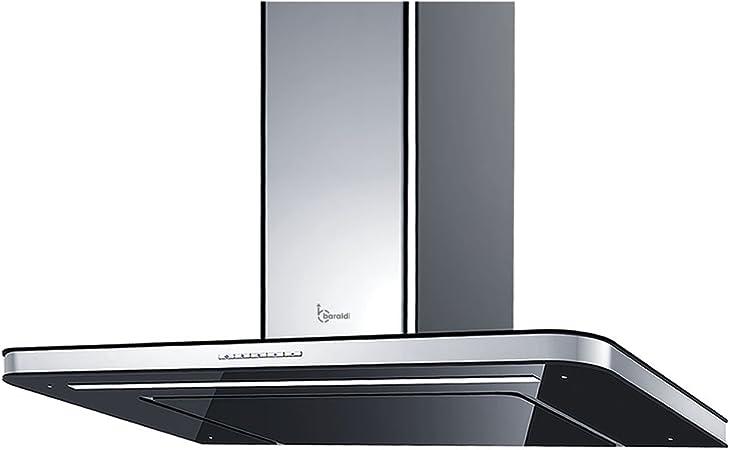Baraldi diseño Campana extractora de Cocina stivia 90 cm, 800 M3/H, Cristal, Negro/Acero: Amazon.es: Hogar