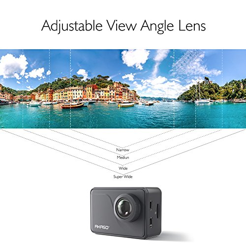 AKASO V50 Pro Native 4K30fps 20MP WiFi Action Camera with EIS Touch Screen Adjustable View Angle 30m Waterproof Camera Support External Mic Remote Control Sports Camera with Helmet Accessories Kit
