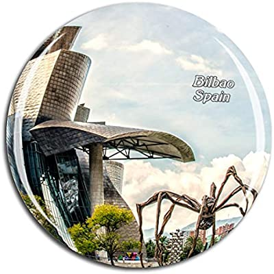Weekino España Museo Guggenheim Bilbao 副本 Imán de Nevera 3D de Cristal de la Ciudad de Viaje Recuerdo Colección de Regalo Fuerte Etiqueta Engomada refrigerador: Amazon.es: Hogar