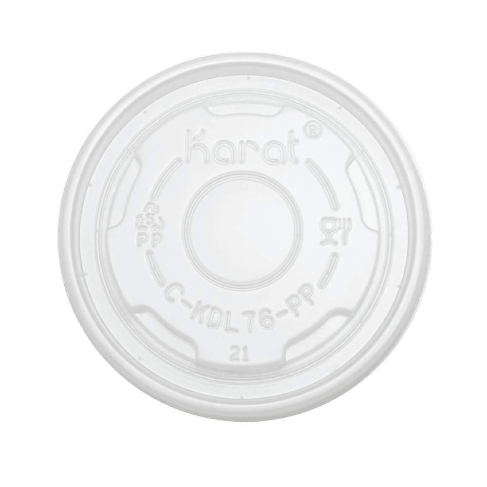 Karat C-KDL76-PP 4 oz PP Food Container Flat Lids (Case of 1000)