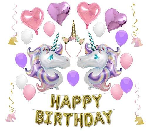 KEOC Magical Unicorn Birthday Party Supplies (Balloon Bundle)