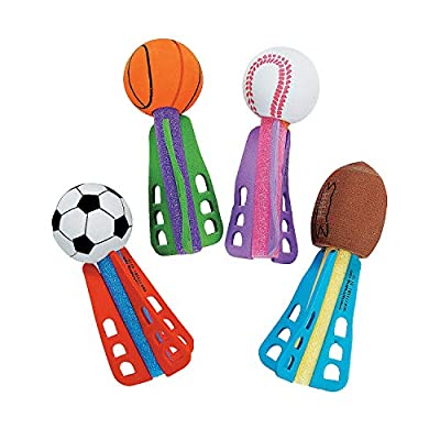 Mini Sport Ball Foam Throwing Dart Missiles (Bulk Set of 24) Party Games and Favors: Arts, Crafts & Sewing