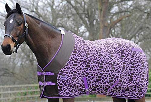 Weatherbeeta Fleece Cooler Standard Neck Chocolate/Purple Diamond 81