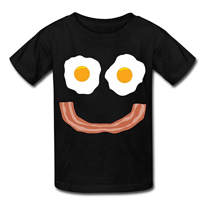 Amazon com: Hanxiaoxiao Girls Eggs Bacon Smiley Cool Running