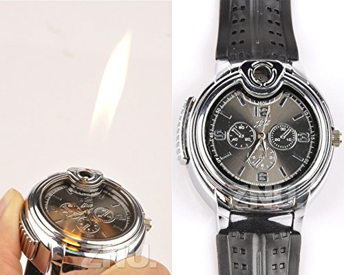 Multifunction Lighter - Refillable Rechargeable Butane Gas Cigarette Lighter smoker Watch Multi-function