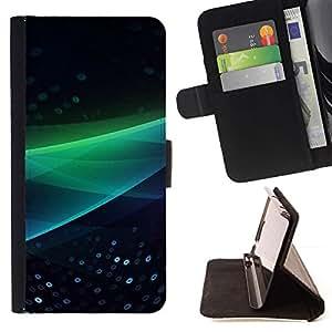 Momo Phone Case / Flip Funda de Cuero Case Cover - Resumen Ola Verde - Apple Iphone 6 PLUS 5.5
