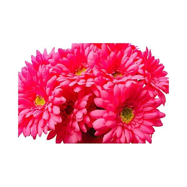 CraftMore 14 Inch Pink Gerbera Daisy Stems Set of 12