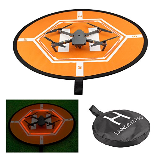 Cheerwing Portable Drone Landing Pad Double Size Foldable Apron Helipad for DJI Spark Mavic Inspire 1 2 Phantom 4 3 2 Syma Parrot RC Quadcopters