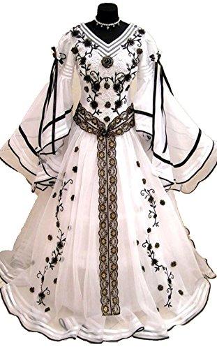 Delle Beige2 Da Sposa Di Costume Da Abiti Appliques Lungo Donne Ballo Medievale Bagliore Manicotti Quinceanera Abito Delle Chupeng wCYUqTq