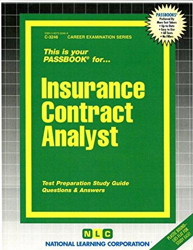 Insurance Contract Analyst(Passbooks) Pdf