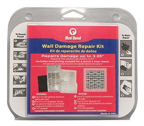 Red Devil 1217 Wall Damage Repair Kit, White