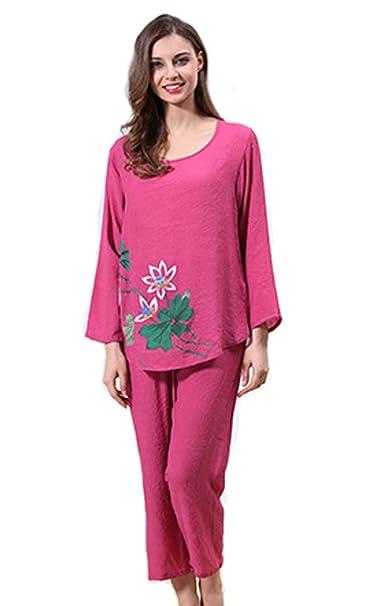 Tonwhar - Pijama - para mujer rosa rosa (b)