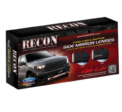 Recon (264240BK) Side Mirror - Side Mirror Recon Lenses