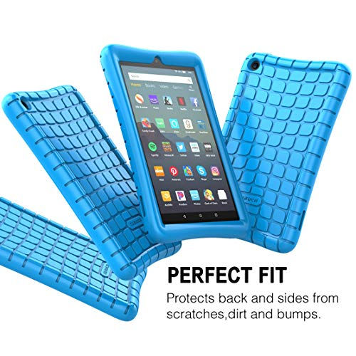 Cuauco Silicone Case for All-New Amazon Fire 7 Tablet (9th Generation, 2019  Release)-[Kids Friendly] Light Weight [Anti Slip] Shock Proof Protective