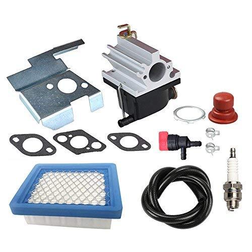 (Panari 640020 Carburetor + Air Filter Tune Up Kit for Tecumseh 640020A 640020B VLV126 VLV60 VLV50 VLV55 VLV65 VLV66 VLV126A 6.5HP 6.75HP Engine Lawn Mower )