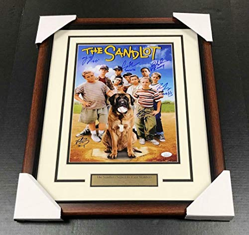 THE SANDLOT MOVIE 11X14 FRAMED PHOTO AUTOGRAPHED SIGNED BY 6 CAST MEMBERS JSA