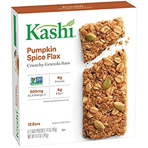 Kashi TLC Crunchy Granola Bar, Pumpkin Spice Flax, 6 - 2 bar pouches, Net Wt. 8.4 Ounce