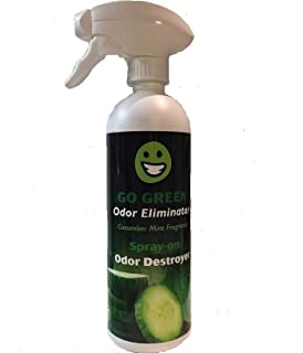 product image for Go Green Odor Eliminator - 16 oz Spray - Remove Odor from Upholstery, Leather Couches, Chairs and Carpet - Pet Odors - Natural Cucumber Mint Enzymes neutralizers Odors. Pet and Child Safe