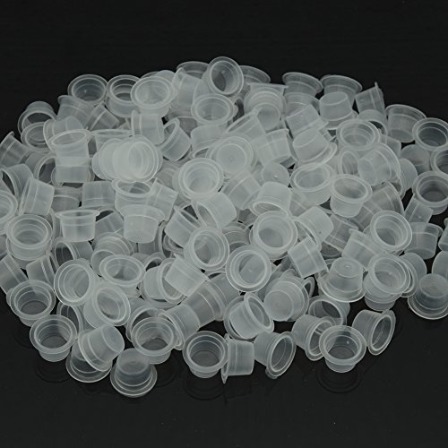 Ink Cups,New Star Tattoo 300pcs/bag 13mm Medium Plastic Tattoo Pigment Caps