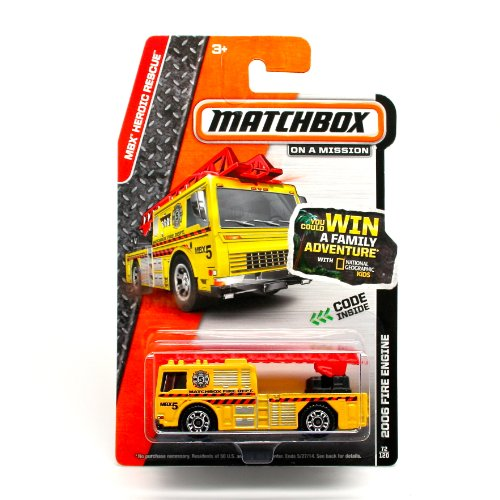 Matchbox, 2014 MBX Heroic Rescue, 2006 Fire Engine [Yellow] 72/120 -