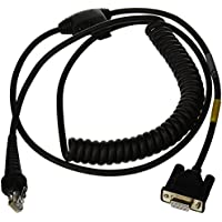 Honeywell CBL-020-300-C00 RS-232 Coiled Cable with DB9 Female Connector, 3 m/9.8-ft. Length, Black