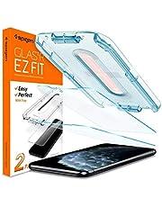 ايفون 11 برو ماكس /اكس اس ماكس ،استيكر حماية شاشة (2 قطع) مقاوم للخدوش والبصامات ،يغطي كامل الشاشة ،عالي الدقة. سبيجن